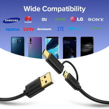 Ugreen USB Type C 2 in 1 Fast Charging Micro USB Cable