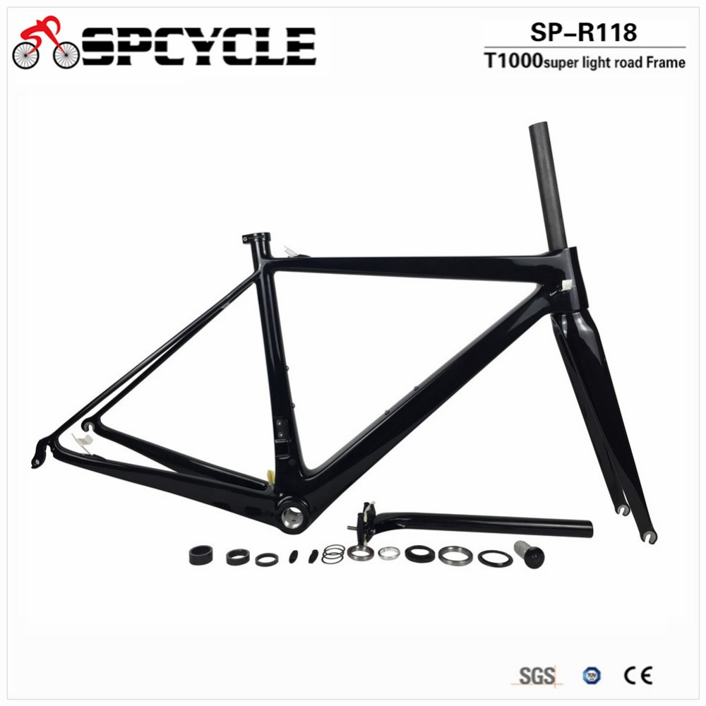 Spcycle Ultralight 800g Carbon Road Bike Frame T1000 Carbon Di2 and Mechanical Road Bicycle Frameset Top Quality 2 Year Warranty spcycle disc brake carbon cyclocross bike frame 700c carbon road bike frame t1000 carbon bsa disc brake road bicycle frameset