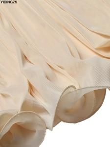 Image 5 - YIDINGZS Womens Vintage Evening Dress Gold Sequins Beading Long Evening Party Dress GA11