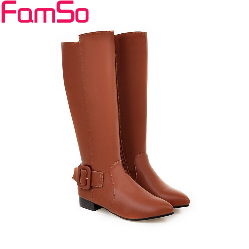 Plus Size 34 43 2016 new Sexy font b Women s b font boots Pointed toe