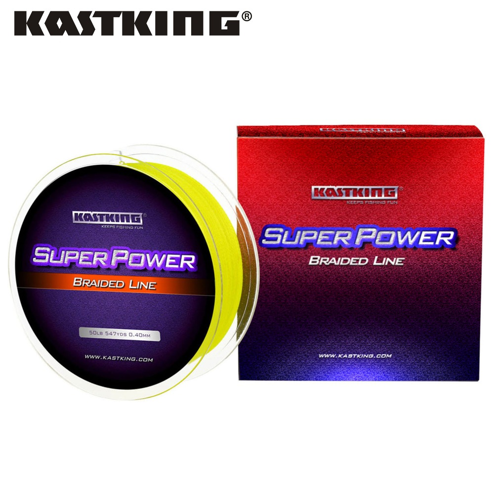 KastKing SuperPower 500/1000m 4 Strand 10LB - 80LB PE Braided Fishing Line Strong Multifilament Line Carp Fishing Saltwater