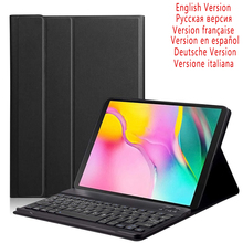 10.5 Inch Tablet Bluetooth Backlit Keyboard For Samsung Galaxy Tab S5e SM-T720 SM-T725 With Leather Case