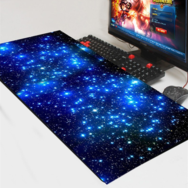Gaming Mouse Pad Locking Edge Large Mouse Mat PC Computer Laptop keyboard pad for Apple MackBook CS GO dota 2 lol image