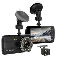 1pc 4 Vehicle Dual Lens Car Camera DVR Video Dash Cam Audio Recorder Full HD 1080P 16:9