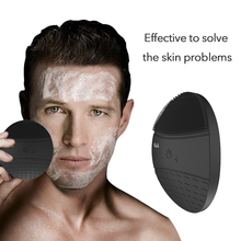 BlingBelle Soft Silicone Facial Cleansing Brush Electric Ultrasonic Face Cleaning For Men Wireless Charge High Frequency