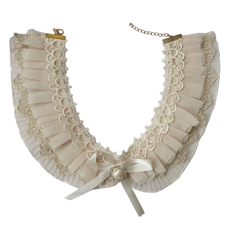 Women Lace Fake Collar Detachable Collar Necklace For Women Clothes Accessories False Collar YKL-02
