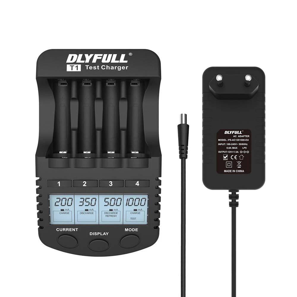 Dlyfull T1 akıllı pil şarj aleti LCD hızlı şarj akıllı pil şarj cihazı için  1.2V Ni MH/CD AAA AA pil USB çıkışı ile|Şarj Cihazları