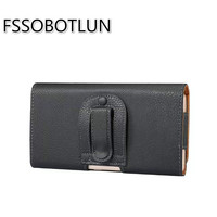 FSSOBOTLUN High Quality PU Leather Holster Belt Magnectic Clip Case Bag For ASUS ZenFone 4 Max