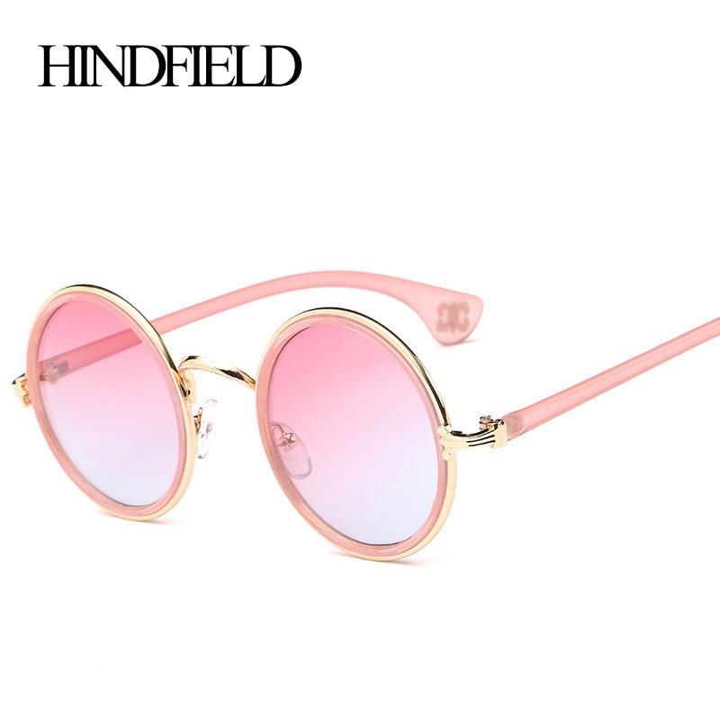 HINDFIELD Syze dielli Round Rozë Gratë Dizajnerë për markë të cilësisë së mirë Sun Sun Sun Sunlight për Femra