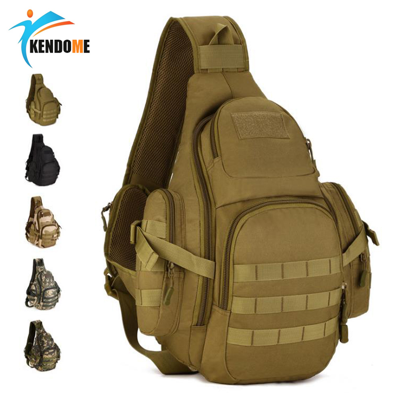 20-35L Tactical Sling Bag Waterproof Shoulder Sports Bag Tactical Molle Military Backpacks Camping Outdoor Hiking Men Chest Pack
