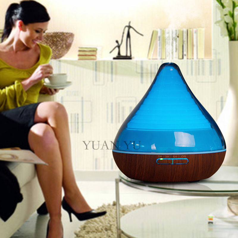 Ultrasonic Aroma Diffuser Air Humidifier For Home 7 Color Changing LED Lights Electric Aromatherapy Diffuser Mist Maker 300ml цена