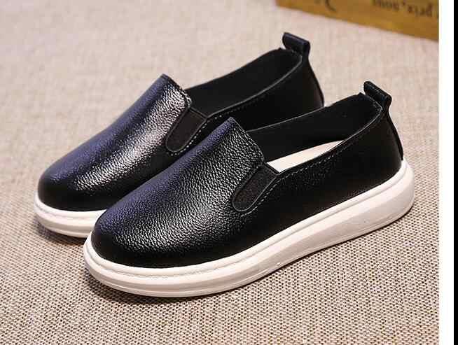 ขายส่งใหม่เด็กรองเท้าเด็กชายหญิงรองเท้าผ้าใบนุ่ม Sole เด็ก Loafers รองเท้า First Walkers ขนาด 21-36