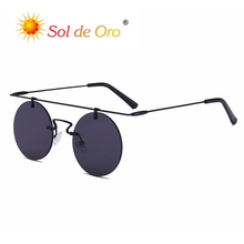 SOL DE ORO Round Sunglasses Men and Women Trend Retro Personality Fashion Glasses Ladies Outdoor sunglasses