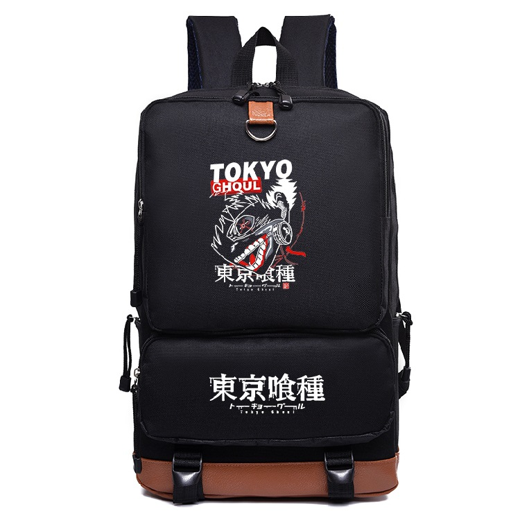 Fashion Anime Tokyo Ghoul Printing Canvas Backpack Womens Mens Daily Backpack Travel Bag Teens Students School Bag Laptop Bag
