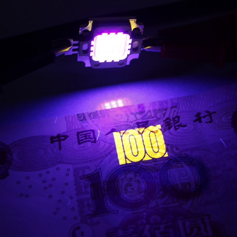 New 10w 20w 50w 100W UV Ultra Violet LED Chip 415-420nm LED LAMP 2018
