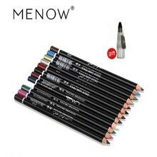 Menow 12 color eye make up Pencil Eyeliner Waterproof eyebrow beauty pen liner lip makeup cosmetic sticks eyes p08005