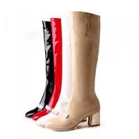 Shoes Woman Fashion Motocicleta Mulheres Martin Outono Inverno Botas De Couro Boots Femininas Botas Women Boots