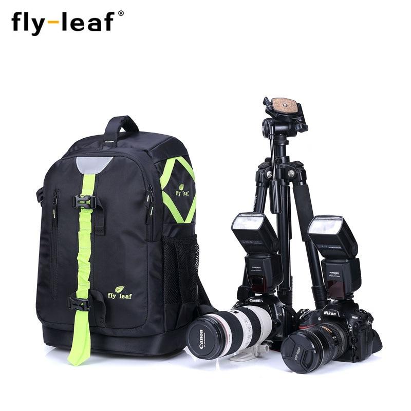Fly leaf FL327 Camera Bag Backpack Package Large Capacity Waterproof Travel Camera Backpack For Canon/Nikon Camera Digital коробка для мушек airflo aquatec fly box large swing leaf