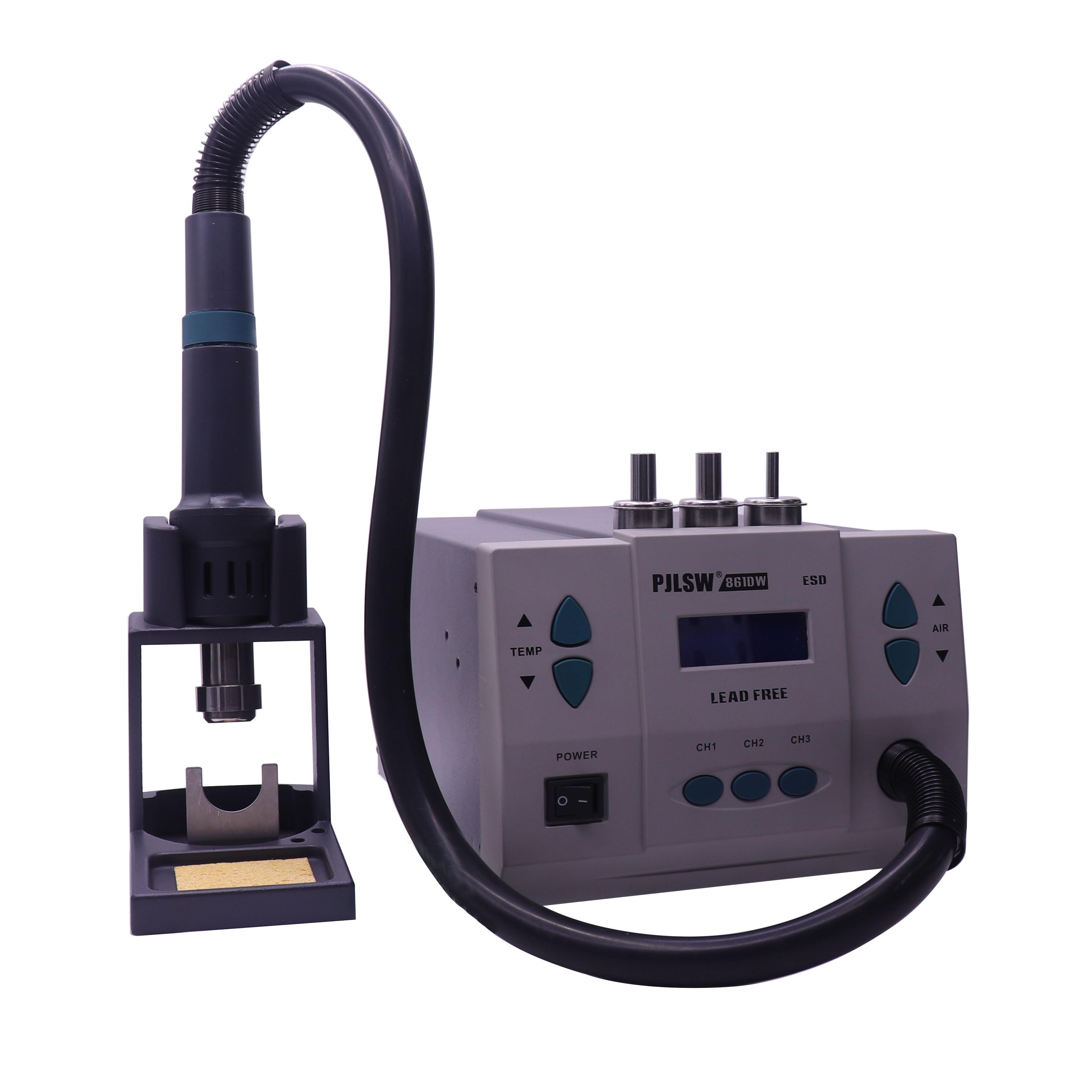 861DW lead free hot air gun soldering station Intelligent digital display 1000W rework station For PCB