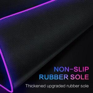 Image 5 - Tapis de souris antidérapant coloré avec éclairage filaire USB pour PC et PC, grand tapis de souris RGB LED pour clavier de jeu