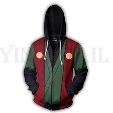 Anime Naruto Sweatshirt Men and Women Zipper Hoodies UZUMAKI 3d Print Hooded Jacket for Boys Winter Costume Harajuku Streetwear