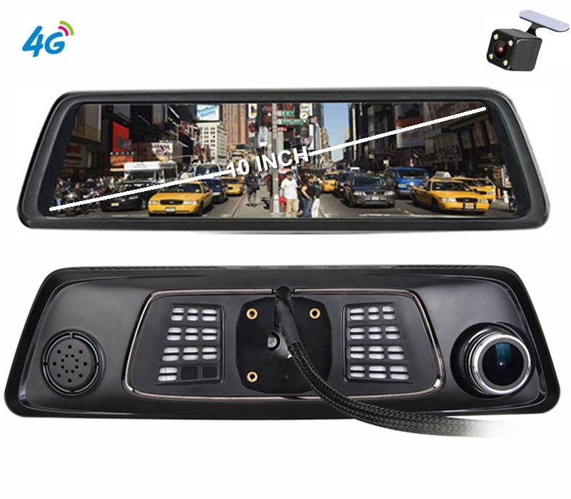 2018 10 Full Touch Fhd 1080p Dual Lens 4g Android Car Rearview