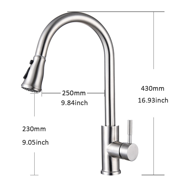 Quyanre High Arc Brushed Nickel Pull Out Touch Sensor Kitchen Faucet  Lead-free Pull Out Smart Kitchen Faucet Sensor Tap Faucet