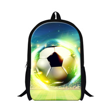 Fashionable Ball 3D pattern school backpacks for teenager boys,cool bookbags for children,design soccerly day pack for student