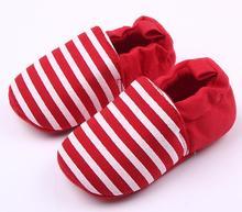 Hot Sale Cute Striped Colors Prewalker 0 12 Months Unisex Baby Boys Girls Soft Bottom Non