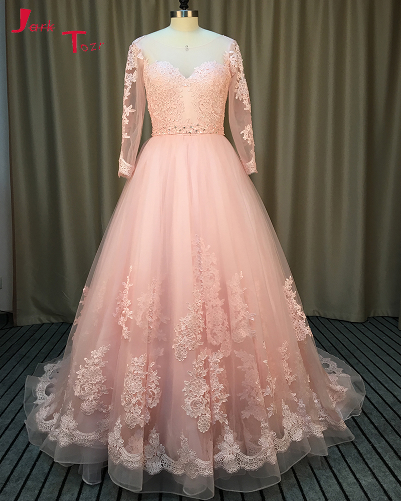 Online Buy Wholesale pink tulle ball gown wedding dress from China ...