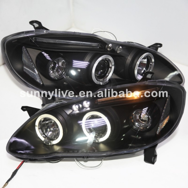 2001 2006 Year For Toyota Corolla Altis Headlight Led Angel Eyes Head Lamp Jy