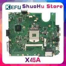 цена на KEFU For ASUS X45A REV2.0 HM70 DDR3 laptop motherboard tested 100% work original mainboard