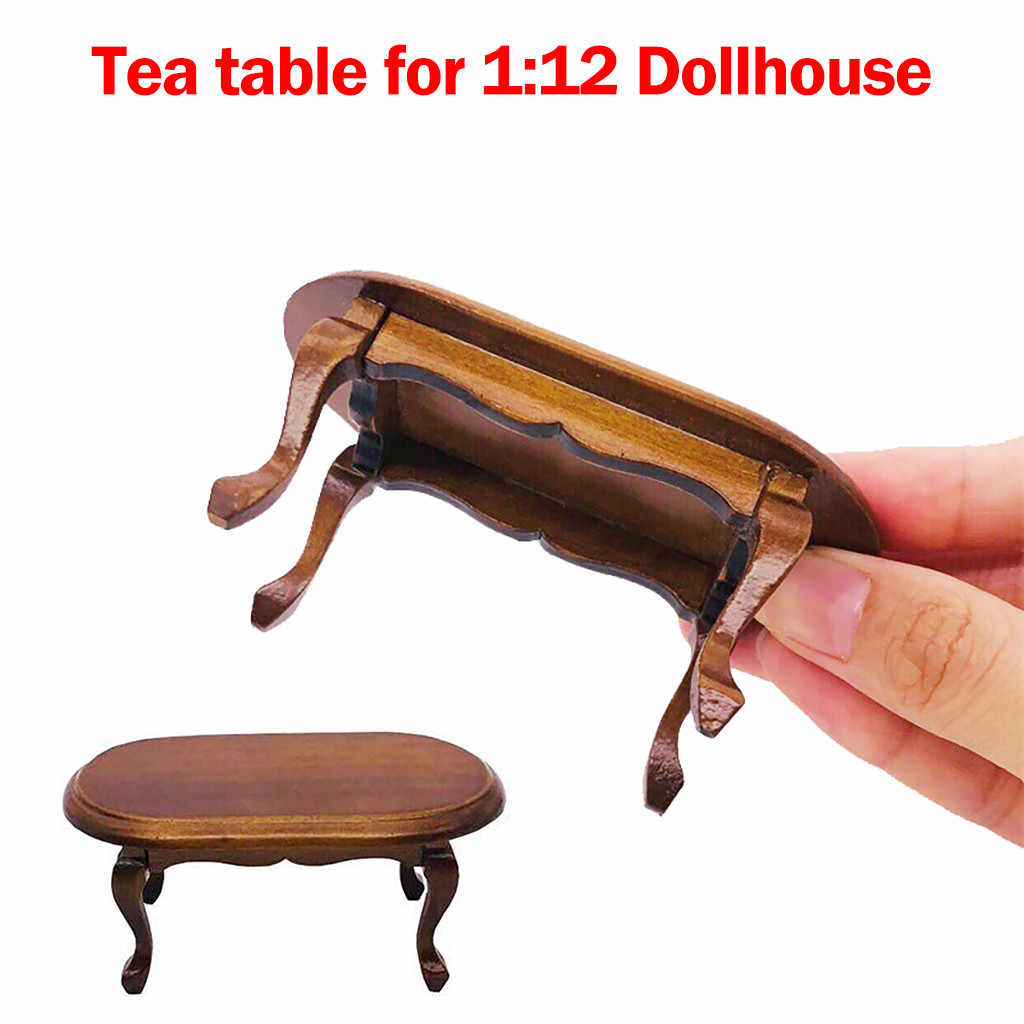 1/12 Mini Dollhouse Furniture Miniature Teatable Coffee Table Living Room Toy Doll House Accessories Simulation Kids Toy D9#