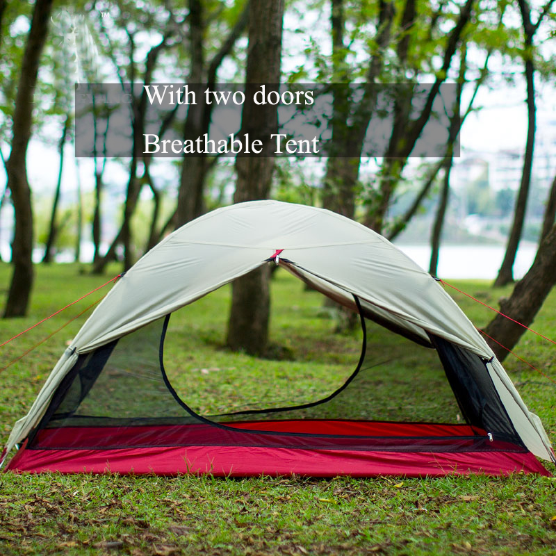 Waterproof Camping Tent For Heavy Rain15D Silicon Plaster Cloth No-see-um Mesh Beach Tent Permeability Camping Tents Equipment 3