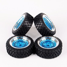 1/10 Scale 12mm Rim Hex Rally Rubber Tires And Wheel For HSP HPI RC Car Model Toys Accessory