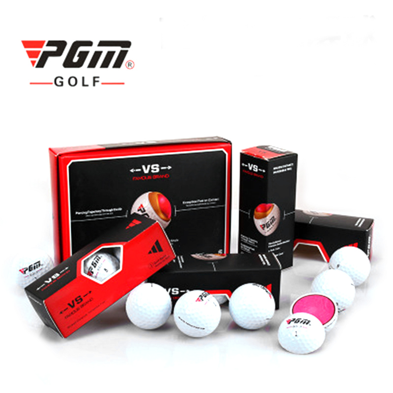 12pcs/Lot PGM Durable Golf Ball with Three Layer Design Soft Durable Cover Ball New golf practice ball