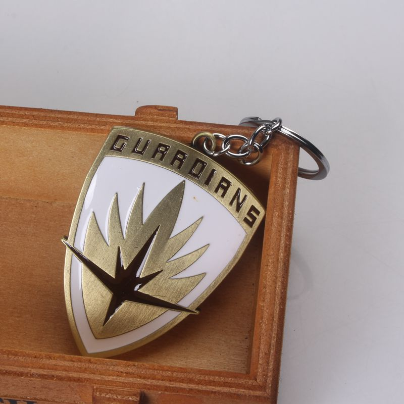 Fashion film Jewelry metal keychain guardians of the galaxy Shield keychains for Man