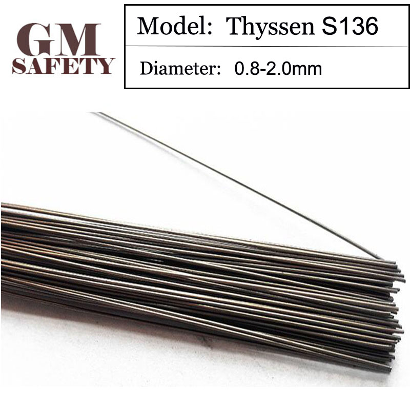 1KG/Pack GM Thyssen S136 of 0.8/1.0/1.2/2.0mm TIG Welding Wires&Repairing Mould Argon Soldering Wire F063 1kg pack thyssen 738 tig welding wires