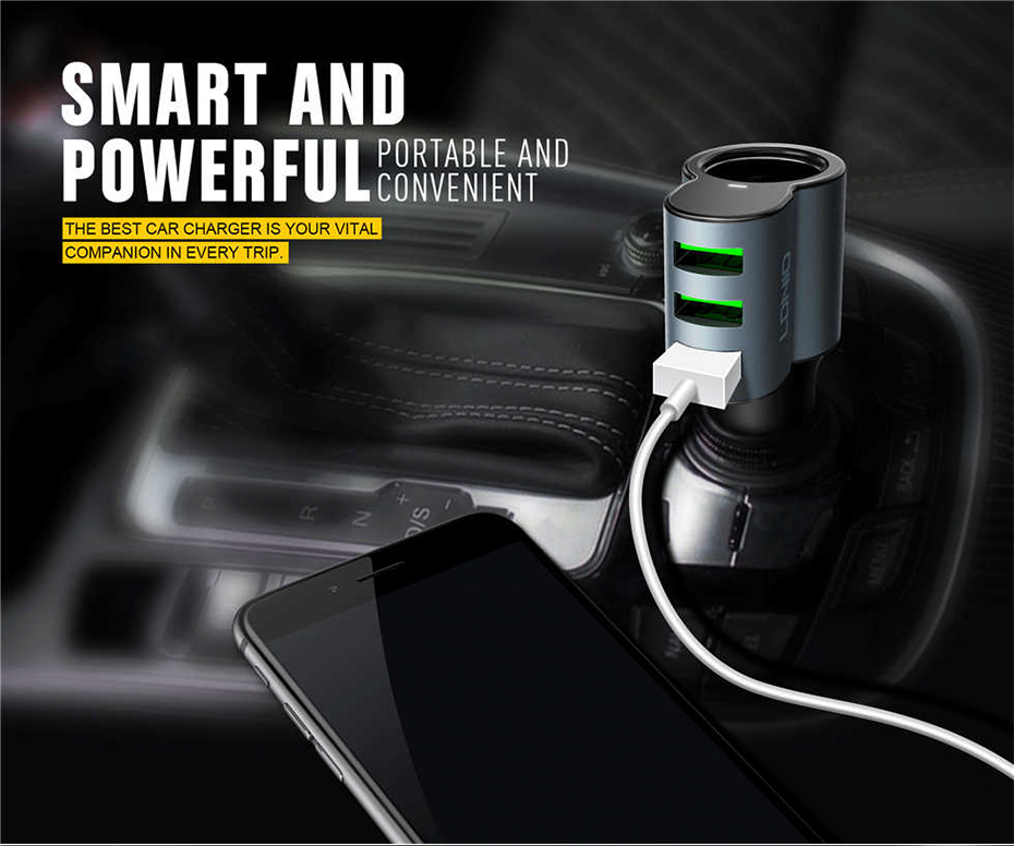 LDNIO Car charger with cigratte socket (10)