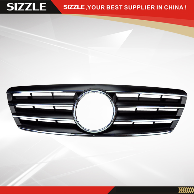 4 Fence Black Front Grille For Mercedes C Class W203 2000 2006 CL Style