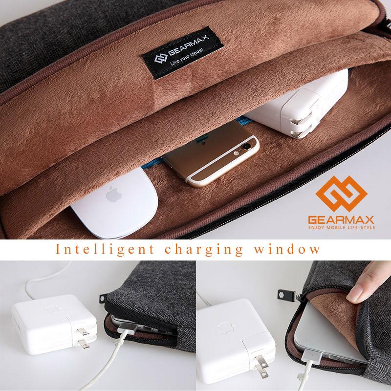 13 hüvelykes GEARMAX hordtáska táska Macbook Air 13 táskához - Laptop kiegészítők - Fénykép 3