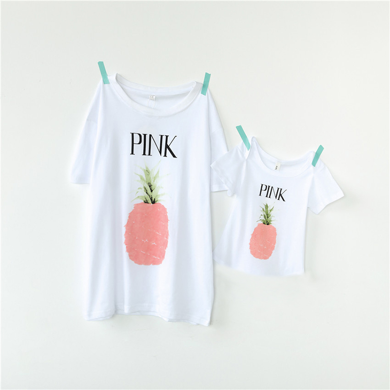 fashion fruit printed girls t-shirt family matching clothes summer popular childrens t-shirt casual family matching t-shirt 6 95 inch screen claa069la0acw claa069la0dcw claa069la0hcw