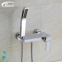 German export shower suit copper hot and cold shower faucet set water mixer shower stands