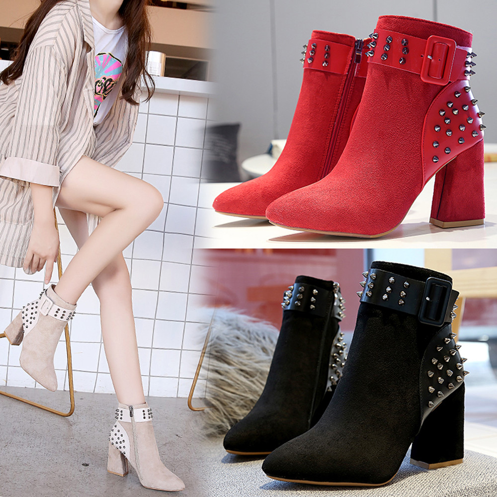 Warm Fur Plush Insole High Quality Ankle Boots