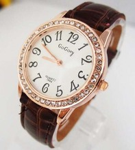 Crystal Watch Women Leather Quartz Watches GOGOEY Brand Luxury Popular Watch Women Casual Fashion Wristwatches Relogio feminino