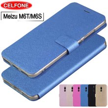Meizu M6T case 6T cover Ultrathin PU leather magnetic stand for M6t 6t flip M6S Mblu S6