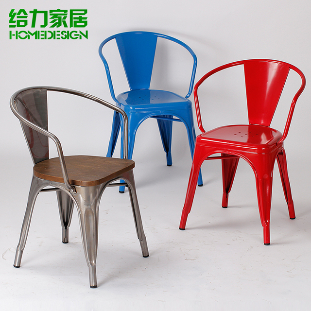Great Iron Chairs Metal Chair Dining Chair Leisure Chair Stylish Minimalist  Industrial Style Loft Handrails Restaurant Chairs