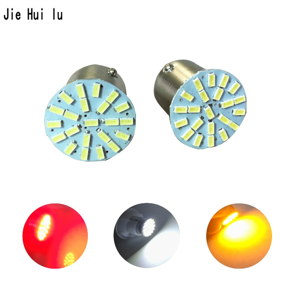 Car styling 1156 1157 P21/5W BAY15D 22 SMD 3014 LED car Auto DRL Tail Side Indicator Lamp Brake Lights Bulb free shipping car styling s25 1157 bay15d 20smd car led bulbs tail brake light 12v dual colors high power 5730 led lamp drl pack of 2