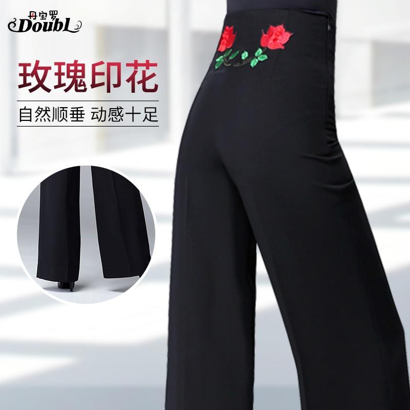Woman Latin Dance Pants Ballroom Latin Dance Standard Pants Adults Dance Trousers Samba Rumba Dance Clothing