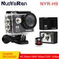 Câmera ação NYR Original H9/H9R remoto Ultra HD 4 K WiFi 1080 P 60fps 2.0 LCD 170D ir de bicicleta à prova d' água esporte pro câmera